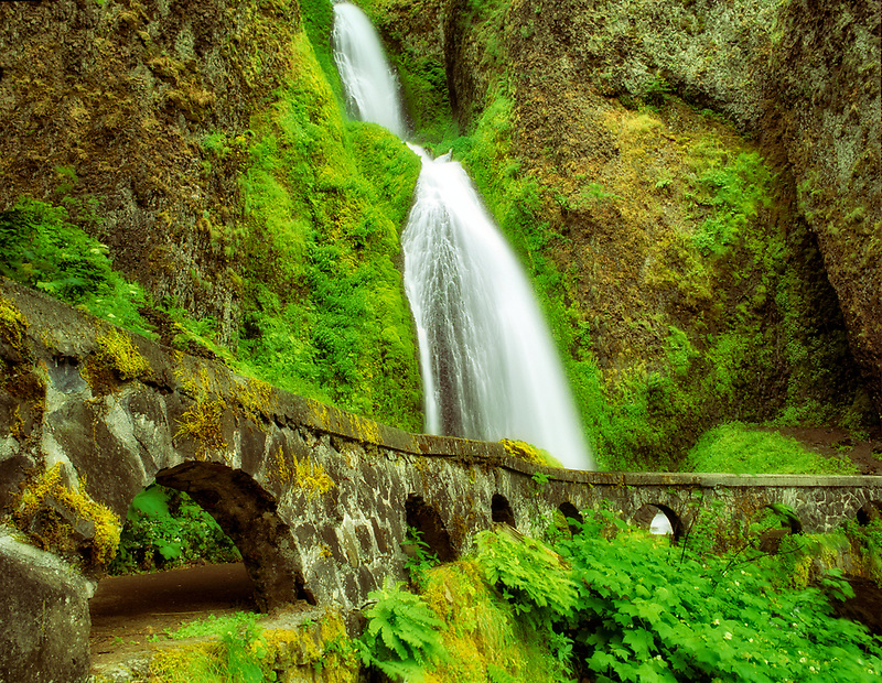 Wahkeena Falls, Columbia River Gorge National Scenic Area, Oregon.