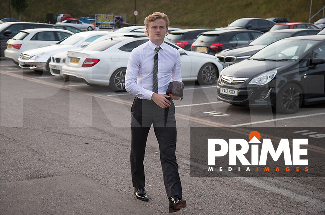 Alex Samuel of Wycombe Wanderers arrives during the Carabao Cup 2nd round match between Wycombe Wanderers and Forest Green Rovers at Adams Park, High Wycombe, England on 28 August 2018. Photo by Kevin Prescod.