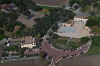 aerial photograph of Piazzo Del Dotto Winery and Caves, Napa, California