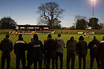 Alvechurch FC 3 Highgate United 0, 26/12/2016. Lye Meadow, Midland Football League Premier Division. Spectators watching the action during the second-half at Lye Meadow as Alvechurch (in amber) hosted Highgate United in a Midland Football League premier division match. Originally founded in 1929 and reformed in 1996 after going bust, the club has plans to move from their current historic ground to a new purpose-built stadium in time for the 2017-18 season. Alvechurch won this particular match by 3-0, watched by 178 spectators, taking them back to the top of the league. Photo by Colin McPherson.