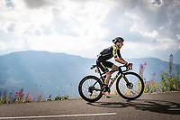 Adam Yates (GBR/Mitchelton-Scott) up the finish climb & the highest peak of the 2020 #TdF: the Col de la Loze (HC/2304m/21,5km @7,8%)<br /> <br /> Stage 17 from Grenoble to Méribel - Col de la Loze (170km)<br /> <br /> 107th Tour de France 2020 (2.UWT)<br /> (the 'postponed edition' held in september)<br /> <br /> ©kramon