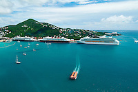 Cruise Ships at the West Indian Company Dock <br /> Charlotte Amalie<br /> St. Thomas<br /> U.S. Virgin Islands