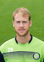 Wycombe Wanderers Sports Scientist David Wates during the Wycombe Wanderers 2016/17 Team & Individual Squad Photos at Adams Park, High Wycombe, England on 1 August 2016. Photo by Jeremy Nako.