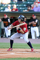 July 1st 2008:  Shortstop Mike Rouse of the Lehigh Valley IronPigs, Class-AAA affiliate of the Philadelphia Phillies, during a game at Frontier Field in Rochester, NY.  Photo by:  Mike Janes/Four Seam Images