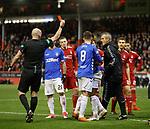 06.02.2019 Aberdeen v Rangers: Alfredo Morelos sent off