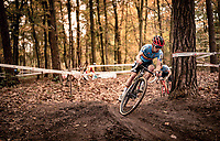 Eli Iserbyt (BEL/Pauwels Sauzen-Bingoal) on his way to becoming European Champion<br /> <br /> UEC Cyclocross European Championships 2020 - 's-Hertogenbosch (NED)<br /> <br /> Elite MEN<br /> <br /> ©kramon