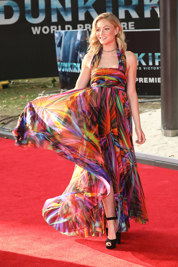 """Clara Paget<br /> at the """"Dunkirk"""" World Premiere at Odeon Leicester Square, London. <br /> <br /> <br /> ©Ash Knotek  D3289  13/07/2017"""