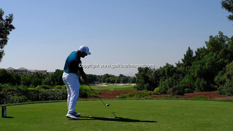 Francesco MOLINARI (ITA) during round two of the 2016 DP World Tour Championships played over the Earth Course at Jumeirah Golf Estates, Dubai, UAE: Picture Stuart Adams, www.golftourimages.com: 11/18/16