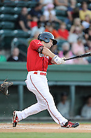 Center fielder Cole Sturgeon (35) of the Greenville Drive in a game against the Lexington Legends on Sunday, August 31, 2014, at Fluor Field at the West End in Greenville, South Carolina. Sturgeon is a tenth-round pick of the Boston Red Sox in the 2014 First-Year Player Draft out of the University of Louisville. Greenville won, 3-2. (Tom Priddy/Four Seam Images)
