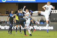 San Jose, CA - Saturday March 09, 2019: Major League Soccer (MLS) match between the San Jose Earthquakes and Minnesota United at Avaya Stadium.