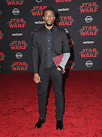"""09 December  2017 - Los Angeles, California - Chadwick Boseman. Premiere Of Disney Pictures And Lucasfilm's """"Star Wars: The Last Jedi"""" held at The Shrine Auditorium  in Los Angeles Photo Credit: Birdie Thompson/AdMedia"""