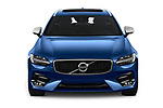 Car photography straight front view of a 2018 Volvo V90 R-Design AWD T6  5 Door Wagon