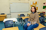 Roisin Moore Principal of St Brigids Presentaion Killarney setting up for home schooling from the school on Tuesday