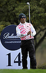 JEJU, SOUTH KOREA - APRIL 23:  Thongchai Jaidee of Thailand prepares to tees off on the 14th hole during the fog-delayed Round One of the Ballantine's Championship at Pinx Golf Club on April 23, 2010 in Jeju island, South Korea. Photo by Victor Fraile / The Power of Sport Images