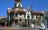 """Gilroy CA: Town Hall, 1905. Samuel Newsom (Carson House, Eureka). """"In the Mission Style""""   Photo '78."""
