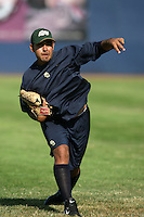 July 9 2009: Pedro Hernandez of the Eugene Emeralds before game against the Spokane Indians at Civic Stadium in Eugene,OR.  Photo by Larry Goren/Four Seam Images