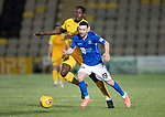 Livingston v St Johnstone…..22.01.20   Toni Macaroni Arena   SPFL<br />Jason Holt is fouled by Marvin Bartley<br />Picture by Graeme Hart.<br />Copyright Perthshire Picture Agency<br />Tel: 01738 623350  Mobile: 07990 594431