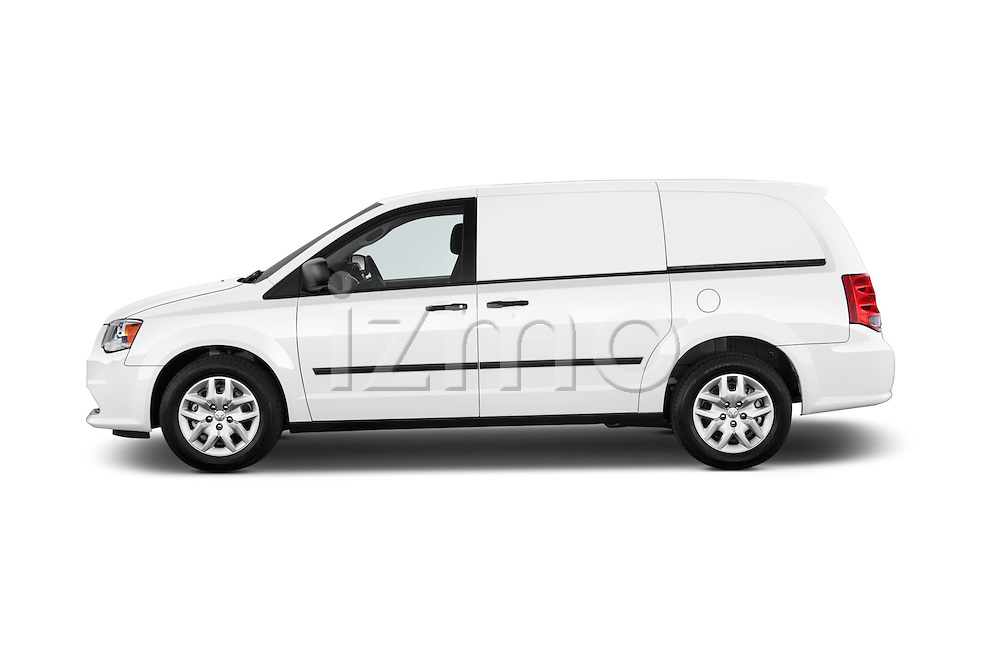 Car driver side profile view of a 2015 Ram base tradesman 5 Door Cargo Van