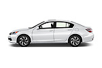 Car Driver side profile view of a 2017 Honda Accord EX-L 4 Door Sedan Side View