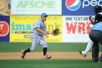 Reading Fightin Phils infielder Carlos Alonso (17) during game against the New Britain Rock Cats  at New Britain Stadium on July 13, 2014 in New Britain, CT. Reading defeated New Britain 6-4.  (Tomasso DeRosa/Four Seam Images)