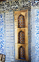 World Civilization:  Topkapi Palace--interior of Bagdad Kiosk--in  Fourth Courtyard, built to commemorate the 1638 Baghdad Campaign of Sultan Murad IV (1612-1640).