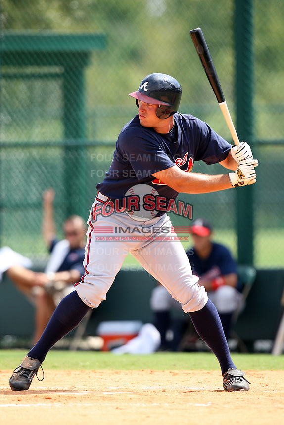 October 6, 2009:  Outfielder Cody Johnson of the Atlanta Braves organization during an Instructional League game at Disney's Wide World of Sports in Orlando, FL.  Johnson was drafted in the 1st round of the 2006 MLB Draft.  Photo by:  Mike Janes/Four Seam Images