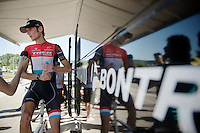 Fränk Schleck (LUX/Trek Factory Racing) interviewed post-race<br /> <br /> 2014 Tour de France<br /> stage 11: Besançon - Oyonnax (187km)