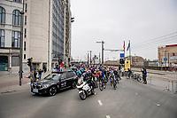 roll out at the race start in Antwerpen<br /> <br /> 105th Ronde van Vlaanderen 2021 (MEN1.UWT)<br /> <br /> 1 day race from Antwerp to Oudenaarde (BEL/264km) <br /> <br /> ©kramon