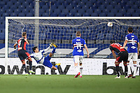 Domenico Criscito of Genoa scores on penalty the goal of 0-1 during the Serie A football match between UC Sampdoria and Genoa CFC at stadio Marassi in Genova (Italy), July 22th, 2020. Play resumes behind closed doors following the outbreak of the coronavirus disease. <br /> Photo Matteo Gribaudi / Image Sport / Insidefoto