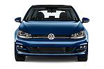 Car photography straight front view of a 2015 Volkswagen Golf SEL 4-door TSI  Auto PZEV 4 Door Hatchback Front View