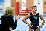 21.9.10 British Gymnastics Press Day.Members of the National Squad in training before the Commonwealth and World Championships.Beckie Downie pictured during training.