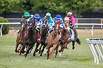 May 15, 2021 : T D Dance, #8, ridden by jockey Javier Castellano, wins the James W. Murphy Stakes on Preakness Stakes Day at Pimlico Race Track in Baltimore, Maryland on May 15, 2021. Wendy Wooley/Eclipse Sportswire/CSM