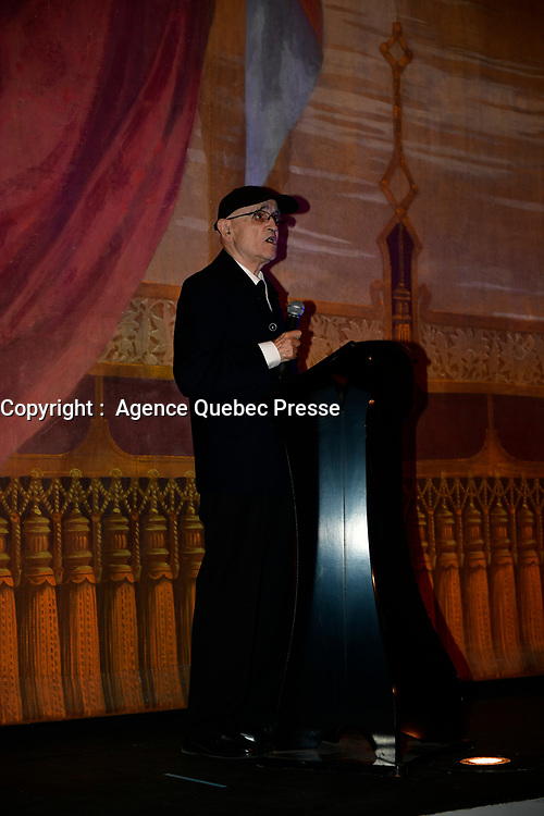Serge Losique and half the jury attend the opening of the World Film Festival, august 24, 2017 at cinema Imperial<br /> <br /> FILE PHOTO : Agence quebec Presse