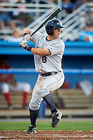 Mahoning Valley Scrappers third baseman Joe Sever #8 during a NY-Penn League game against the Batavia Muckdogs at Dwyer Stadium on August 22, 2012 in Batavia, New York.  Batavia defeated Mahoning Valley 3-2.  (Mike Janes/Four Seam Images)