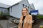 Maria Breen the new Principal of Tiernaboul NS on her first day on Monday