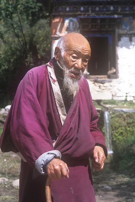 Old Man, Tahshing Monastery, Bhutan