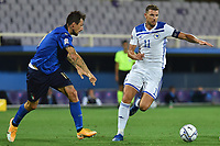 Francesco Acerbi of Italy and Edin Dzeko of Bosnia during the Uefa Nation League Group Stage A1 football match between Italy and Bosnia at Artemio Franchi Stadium in Firenze (Italy), September, 4, 2020. Photo Massimo Insabato / Insidefoto