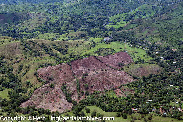 aerial photograph of clear cutting in Panama
