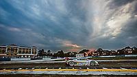 Sunset during practice, #5 Corvette DP, João Barbosa, Sébastien Bourdais, Christian Fittipaldi  12 Hours of Sebring, Sebring International Raceway, Sebring, FL, March 2015.  (Photo by Brian Cleary/ www.bcpix.com )