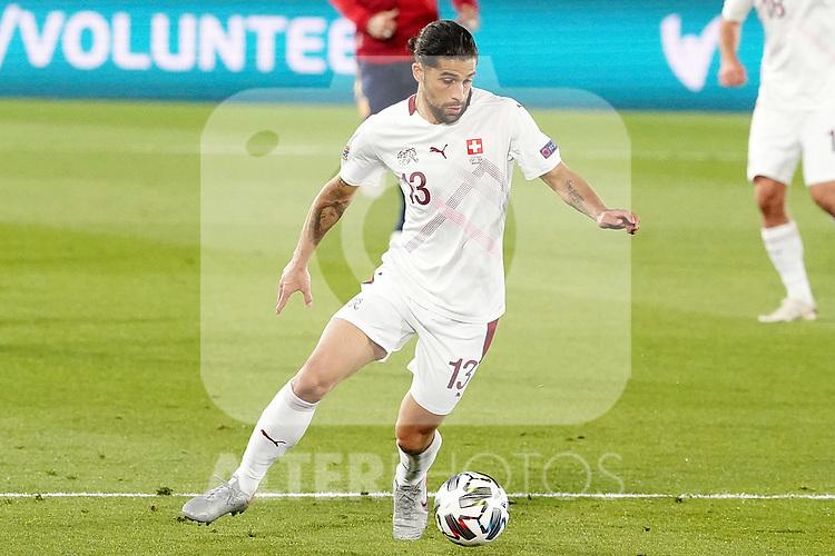 Switzerland's Ricardo Rodriguez during UEFA Nations League 2020 League Phase match. October 10,2020.(ALTERPHOTOS/Acero)