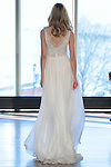 "Model Kate walks runway in a ""Shelly"" bridal gown from the Rivini Spring Summer 2017 bridal collection by Rita Vinieris at The Standard Highline Room, during New York Bridal Fashion Week on April 15, 2016."