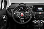 Car pictures of steering wheel view of a 2019 Fiat 500X Cross-S-Design 5 Door SUV Steering Wheel