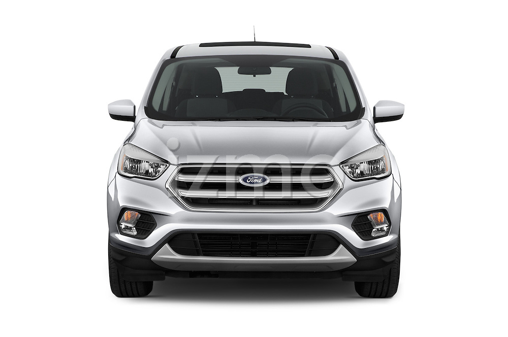 Car photography straight front view of a 2018 Ford Escape SE 5 Door SUV Front View