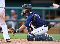 Belen Jesuit Wolverines catcher Gio Cueto (14) during the 42nd Annual FACA All-Star Baseball Classic on June 6, 2021 at Joker Marchant Stadium in Lakeland, Florida.  (Mike Janes/Four Seam Images)