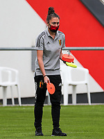Assistant coach Audrey Demoustier of Belgium  pictured before a friendly female soccer game between the national teams of Luxemburg and Belgium , called the Red Flames  in a preparation towards the qualification for the  FIFA Women's World Cup , on saturday 12 th of June 2021  in Wiltz , Luxemburg . PHOTO SPORTPIX BE   SPP   SEVIL OKTEM