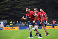 Sione Havili waits for the ball during the Mitre 10 Cup rugby match between Wellington Lions and Tasman Makos at Jerry Collins Stadium in Wellington, New Zealand on Saturday, 31 October 2020. Photo: Dave Lintott / lintottphoto.co.nz