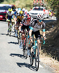The breakaway including Lucas Hamilton (AUS) Team BikeExchange during Stage 15 of La Vuelta d'Espana 2021, running 197.5km from Navalmoral de la Mata to El Barraco, Spain. 29th August 2021.    <br /> Picture: Cxcling | Cyclefile<br /> <br /> All photos usage must carry mandatory copyright credit (© Cyclefile | Cxcling)