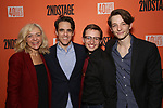 "Rachel Bay Jones, Steven Levenson, Will Roland and Mike Faist attends the After Party for the Second Stage Production of ""Days Of Rage"" at Churrascaria Platforma on October 30, 2018 in New York City."