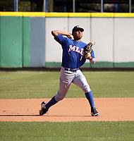 Branlyn Jaraba participates in the MLB International Showcase at Estadio Quisqeya on February 22-23, 2017 in Santo Domingo, Dominican Republic.
