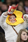A young Welsh fan enjoying the pre-match build up.<br /> Dove Men Series 2014<br /> Wales v Fiji<br /> Millennium Stadium<br /> 15.11.14<br /> ©Steve Pope-SPORTINGWALES